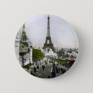 Torre Eiffel Universal Exhibition of Paris 2 Inch Round Button
