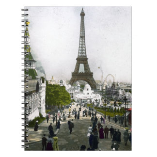 Torre Eiffel Universal Exhibition of Paris Notebook