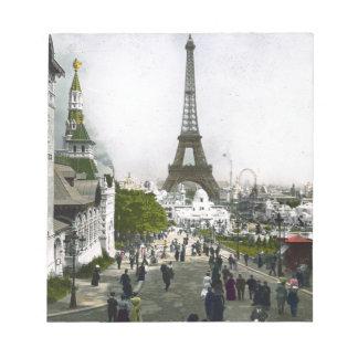 Torre Eiffel Universal Exhibition of Paris Notepad
