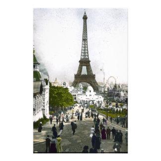 Torre Eiffel Universal Exhibition of Paris Stationery