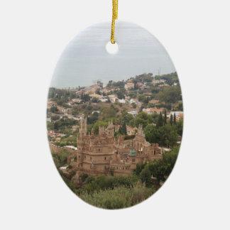 Torremolinos View Range - Spain Ceramic Oval Ornament