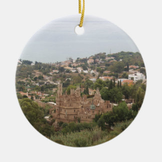 Torremolinos View Range - Spain Round Ceramic Ornament