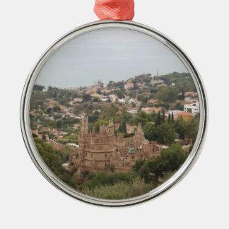 Torremolinos View Range - Spain Silver-Colored Round Ornament