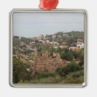 Torremolinos View Range - Spain Silver-Colored Square Ornament