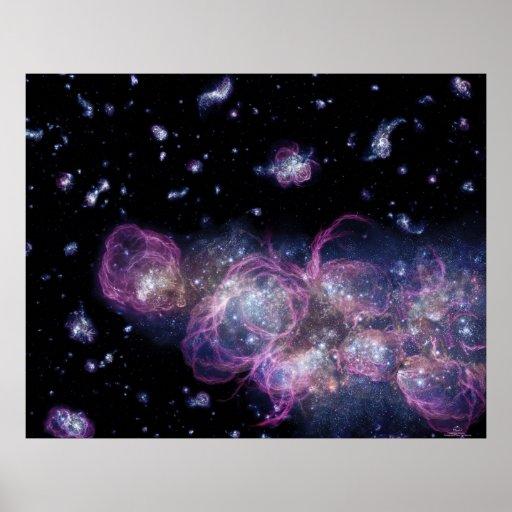 Torrential Firestorm of Star Birth Poster