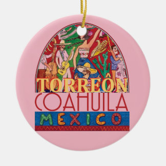 TORREON Mexico Ceramic Ornament