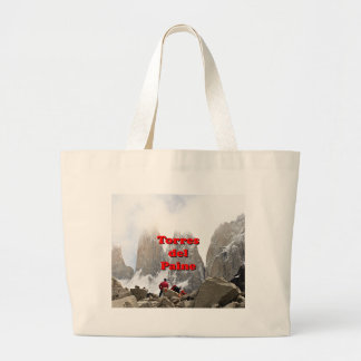Torres del Paine: Chile Large Tote Bag