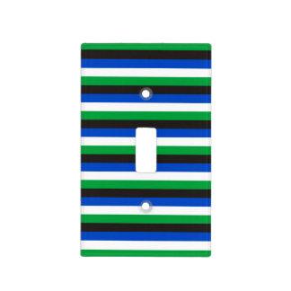 Torres Strait Islander flag stripes color lines pa Light Switch Cover