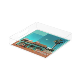 Torrevieja in Orange and Turqoise Acrylic Tray