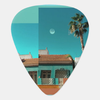 Torrevieja in Orange and Turqoise Guitar Pick