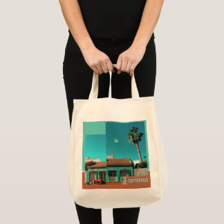 Torrevieja in Orange and Turqoise Tote Bag