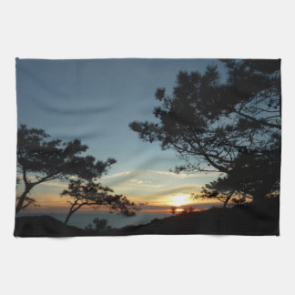 Torrey Pine Sunset III California Landscape Kitchen Towel