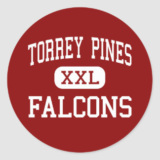 Torrey Pines - Falcons - High - Encinitas Round Sticker