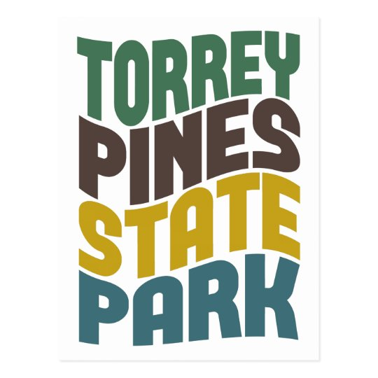 Torrey Pines State Park Retro Wave Postcard