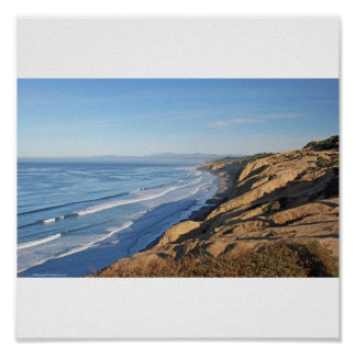 Torrey Pines viewing Blacks Beach north to Oceansi Poster