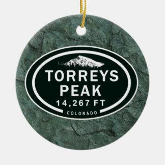 Torreys Peak 14,267 FT CO 14er Mountain Ornament