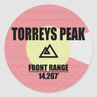 Torreys Peak Classic Round Sticker