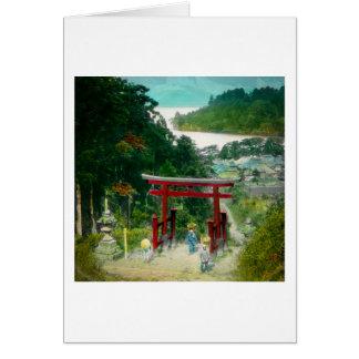 Torri Above Lake Ashi 芦ノ湖 Japan Vintage Card