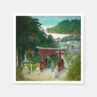 Torri Above Lake Ashi 芦ノ湖 Japan Vintage Paper Napkins