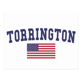 Torrington US Flag Postcard