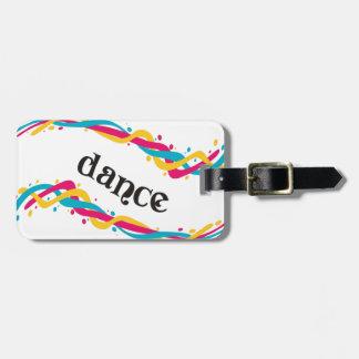 Torsions de danse étiquette pour bagages