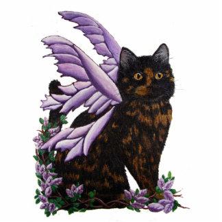 Tortie Fairy Cat Standing Photo Sculpture