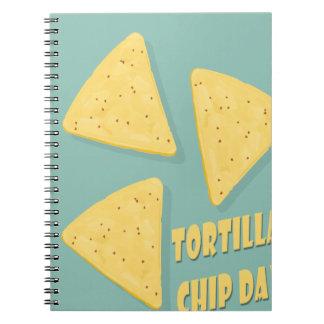 Tortilla Chip Day - Appreciation Day Spiral Notebook