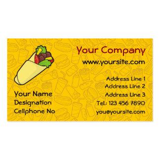 Tortilla Sandwich Wrap Business Card