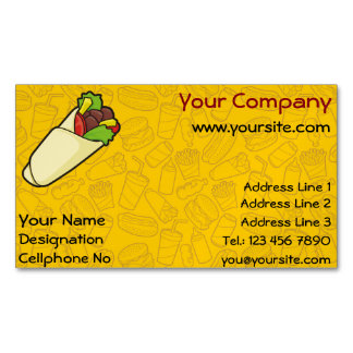 Tortilla Sandwich Wrap Business Card Magnet