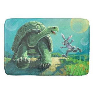 Tortoise and the Hare Art Bathroom Mat
