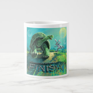 Tortoise and the Hare Art Giant Coffee Mug