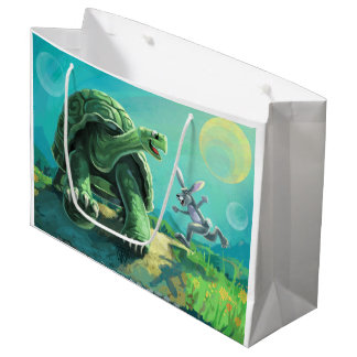 Tortoise and the Hare Art Large Gift Bag
