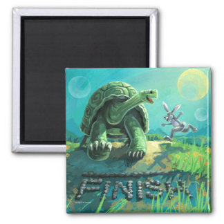 Tortoise and the Hare Art Magnet