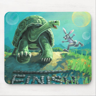 Tortoise and the Hare Art Mouse Pad