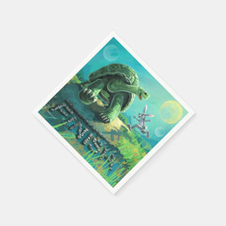 Tortoise and the Hare Art Paper Napkins