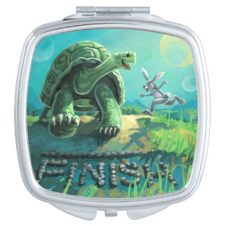 Tortoise and the Hare Art Vanity Mirror