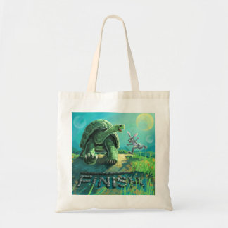 Tortoise and the Hare Finish Line Tote Bag
