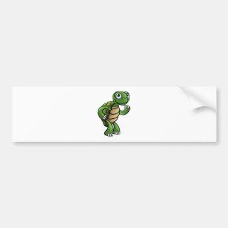 Tortoise Cartoon Character Bumper Sticker