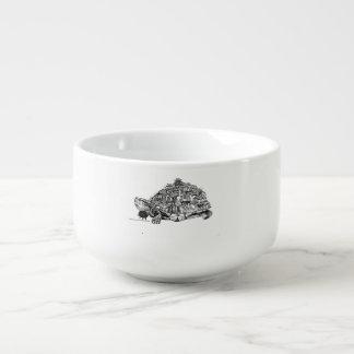 Tortoise city soup mug