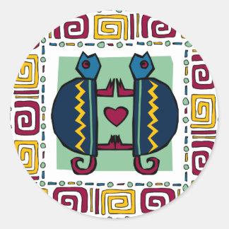 tortoise-in-love classic round sticker