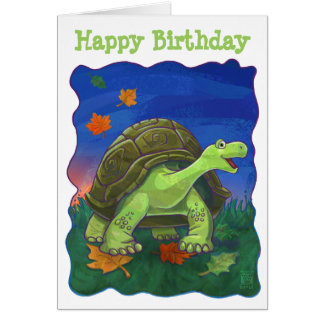 Tortoise Party Centre Card