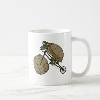 Tortoise Riding Bike W/ Tortoise Shell Wheels Coffee Mug
