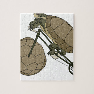 Tortoise Riding Bike W/ Tortoise Shell Wheels Jigsaw Puzzle
