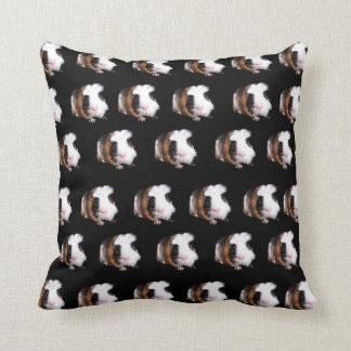 Tortoiseshell Guinea Pigs, Throw Cushion. Throw Pillow