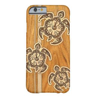 Tortue hawaïenne en bois de Faux d'Uhane Honu Coque iPhone 6 Barely There
