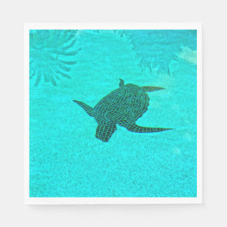 Tortuga Turtle Mosaic on Sanibel Island Florida Disposable Napkin