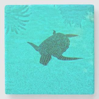 Tortuga Turtle Mosaic on Sanibel Island Florida Stone Coaster