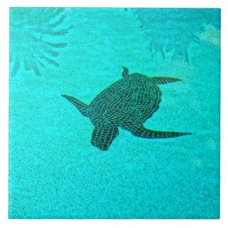 Tortuga Turtle Mosaic on Sanibel Island Florida Tile