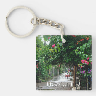 Tortuguero after the Rain Single-Sided Square Acrylic Keychain