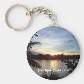 Tortuguero Evening - Sunset in Costa Rica Basic Round Button Keychain